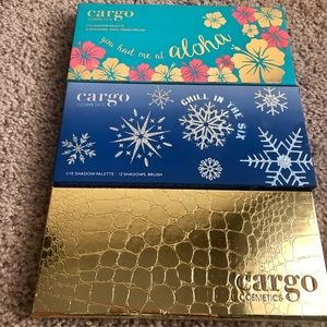3 cargo cosmetics eye shadow pallets